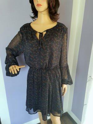 Only Chiffon jurk donkerblauw