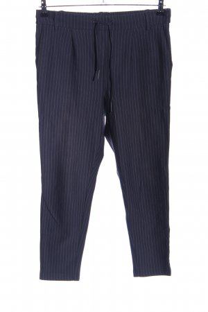 Only Chinohose blau-hellgrau Streifenmuster Casual-Look