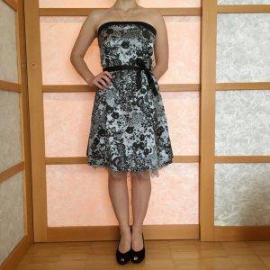 Only Cocktailkleid Kleid schwarz silber in S 34/36