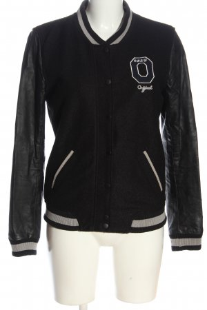 Only College Jacket black-light grey casual look