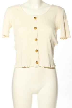 Only T-shirt court blanc cassé style décontracté