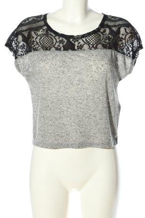 Only Camicia cropped grigio chiaro-nero puntinato stile casual