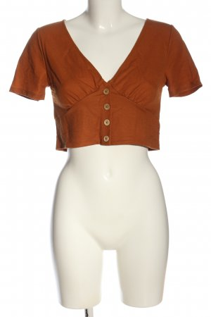 Only Cropped Shirt light orange casual look