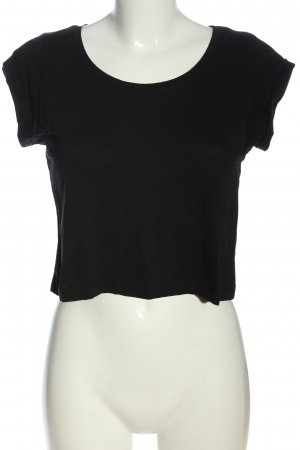 Only Cropped Shirt schwarz Casual-Look