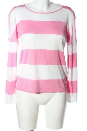 Only Longsleeve weiß-pink Streifenmuster Business-Look