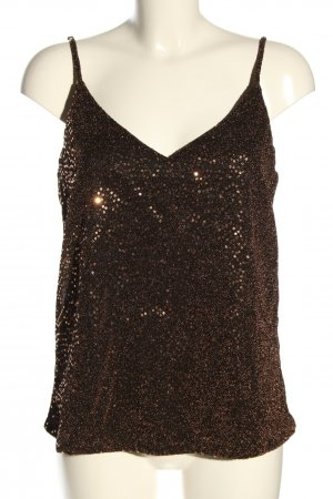 Only Top cut out negro-color oro brillante