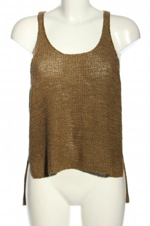 Only Cut out top bruin casual uitstraling