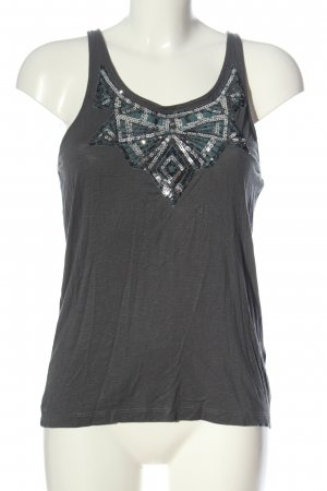Only Top cut out gris claro look casual