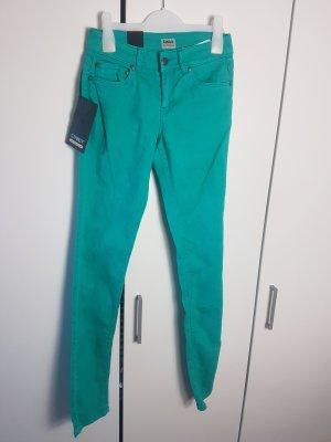 Only Damen Röhren Jeans Ultimate Str Low Colour türkis XS L32 NEU