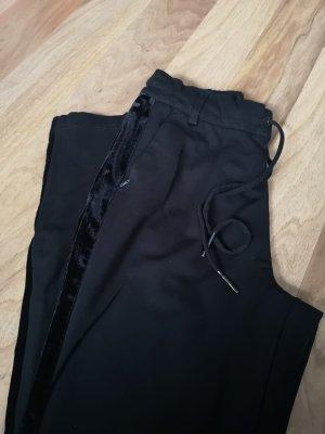 Only Damen Stoffhose Stretch mit Samt Streifen Größe XS 34  schwarz