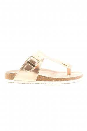 Only Sandalias Dianette color oro look casual