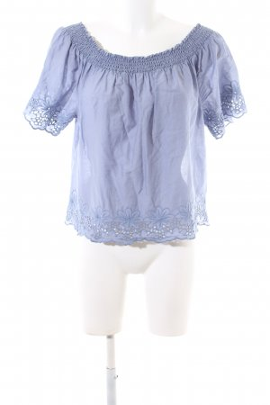 Only Empire Waist Shirt blau Blumenmuster Casual-Look
