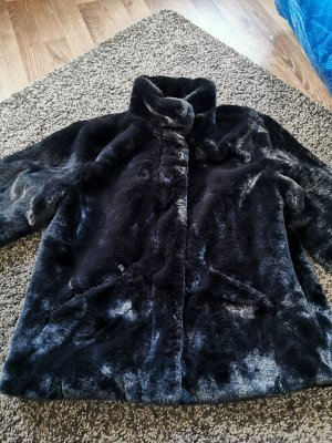 Only Fake Fur Jacket black