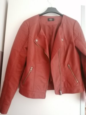 Only Fashion Biker Jacket cognac-coloured-russet mixture fibre
