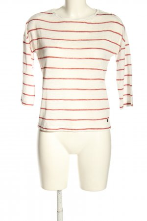 Only Fine Knit Jumper natural white-red striped pattern casual look