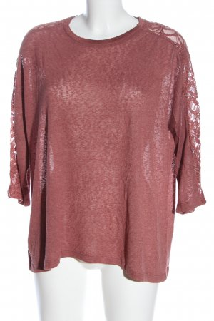 Only Feinstrickpullover pink meliert Casual-Look