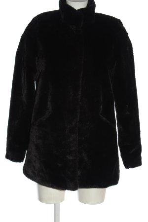 Only Futrzana kurtka czarny W stylu casual