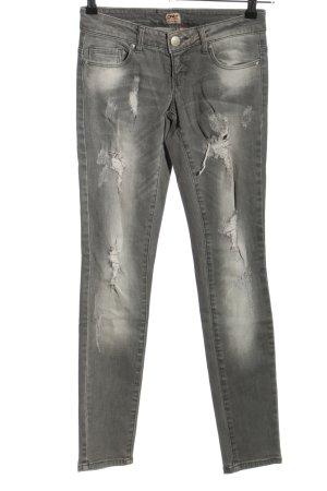 Only Pantalon cinq poches gris clair style décontracté