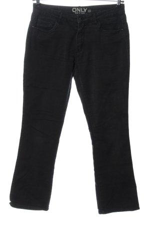 Only Pantalón de cinco bolsillos negro look casual