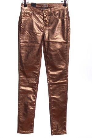 Only Five-Pocket-Hose bronzefarben Glanz-Optik
