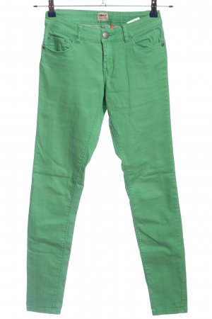 Only Five-Pocket-Hose grün Casual-Look