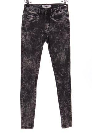 Only Pantalone cinque tasche nero puntinato stile casual