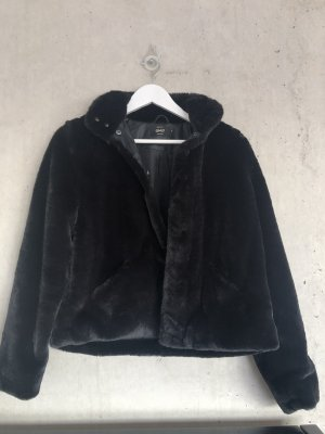 Only Chaqueta de piel sintética negro-marrón-negro