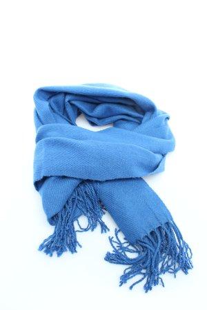 Only Bufanda de flecos azul look casual