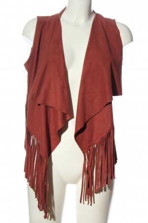 Only Fransenweste rot Casual-Look
