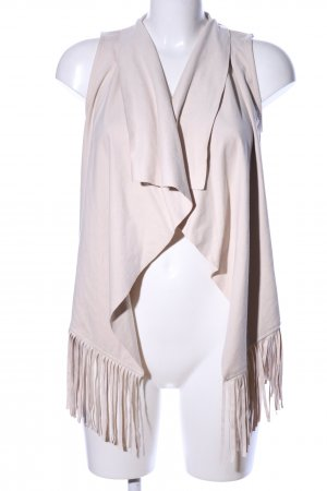 Only Fringed Vest cream casual look