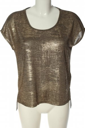 Only Splendor Blouse brown-gold-colored abstract pattern extravagant style