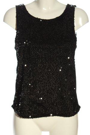 Only Glanzende blouse zwart elegant