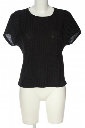 Only Blusa brillante negro look casual