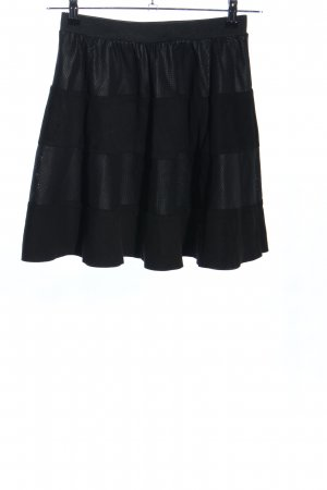 Only Flared Skirt black striped pattern casual look
