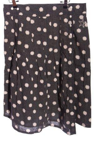 Only Rozkloszowana spódnica czarny-biały Wzór w kwiaty W stylu casual