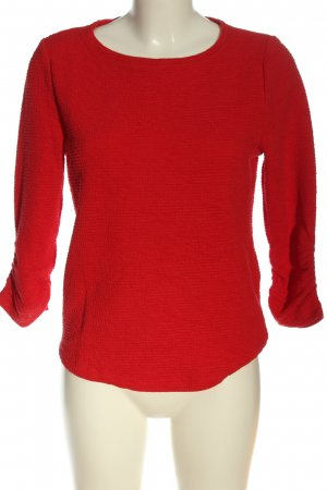 Only Jersey de punto grueso rojo look casual