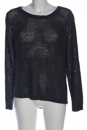 Only Grobstrickpullover schwarz Casual-Look