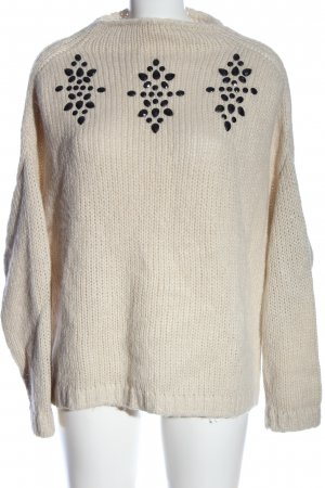 Only Grobstrickpullover wollweiß Casual-Look