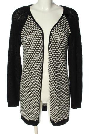 Only Gehaakte cardigan zwart-wit abstract patroon casual uitstraling