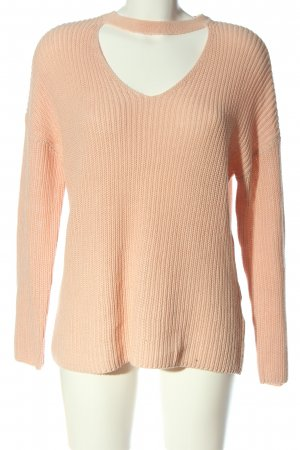 Only Jersey de ganchillo rosa look casual