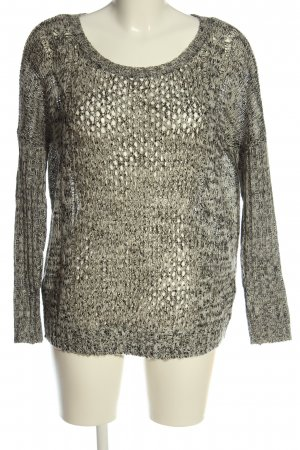Only Crochet Sweater light grey flecked casual look