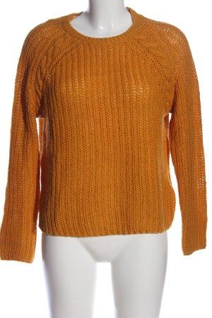 Only Gehaakte trui licht Oranje kabel steek casual uitstraling