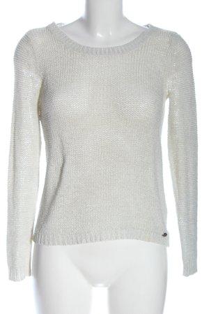 Only Jersey de ganchillo blanco look casual
