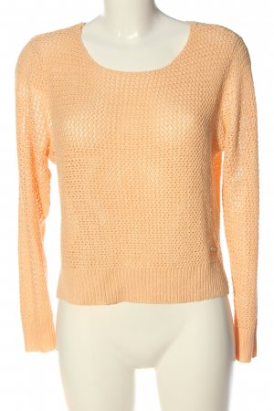 Only Jersey de ganchillo nude look casual
