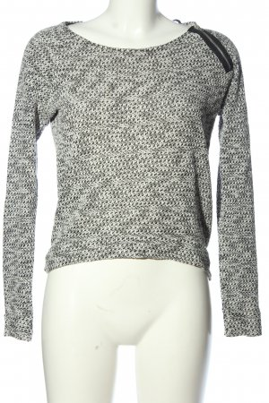 Only Crochet Sweater light grey casual look