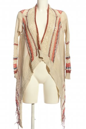 Only Strick Cardigan Streifenmuster Casual-Look