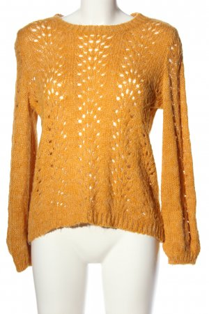 Only Crochet Sweater light orange casual look