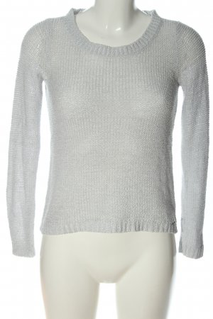 Only Crochet Sweater light grey cable stitch casual look