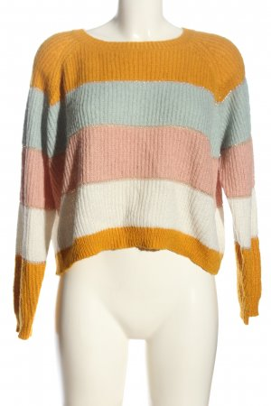 Only Crochet Sweater striped pattern casual look