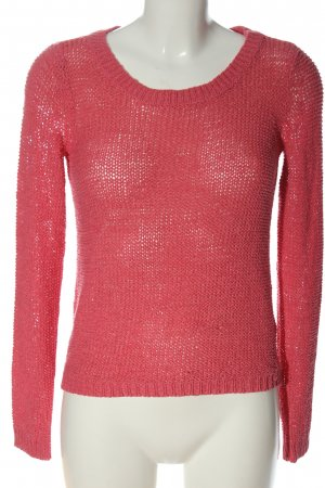 Only Pullover all'uncinetto rosso stile casual